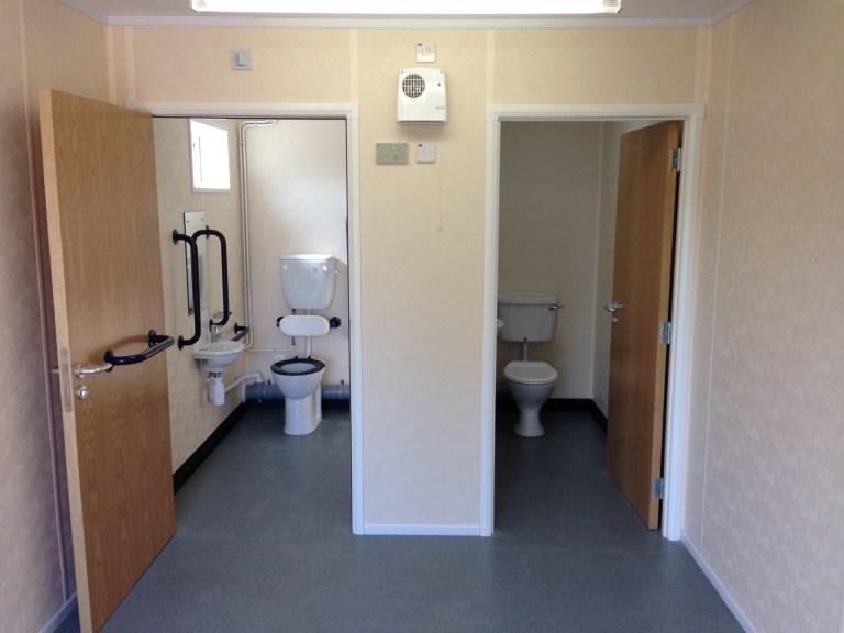 Single Modular Classroom - Lobby and Toilet Area